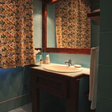 Luxury winery resort Castelbuono_classic double room bath
