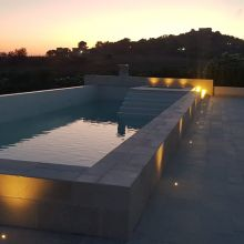 Residence Scala dei Turchi_pool evening