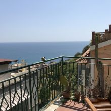 Seaview Villa Taormina Naxos_view from apartment B