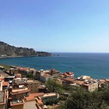 Seaview Villa Taormina Naxos_view from pool
