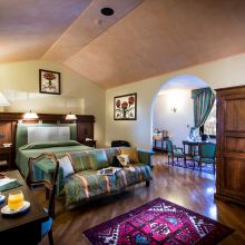 Luxury winery resort Castelbuono_junior suite pool view