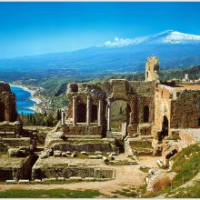 Rural B&B Sicily east coast - Taormina view from the Greek theatre
