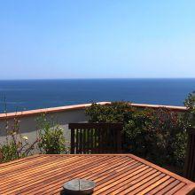 Seaview Villa Taormina Naxos_view from terrace apartment A