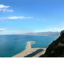 View of Marinello beach and Tindari sanctuary