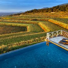 Wine resort Etna East_pool and view