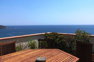 Seaview Villa Taormina Naxos_view from terrace apartment A
